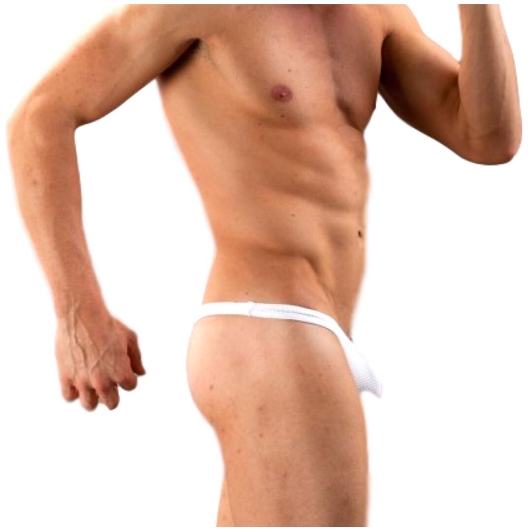 Tangas para caballero sensuales, modelo Dared blanco