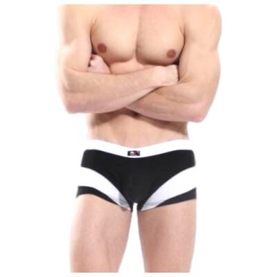 Bóxer deportivo para hombre, modelo clásico negro