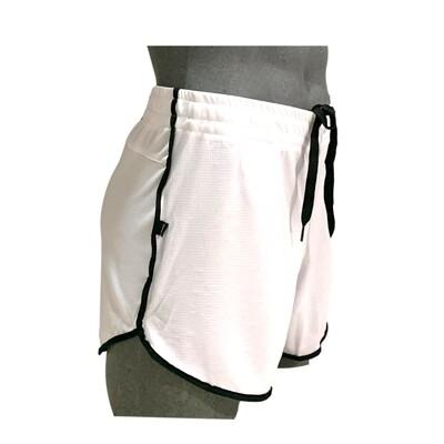 Shorts para hombre, cómodos blanco-negro