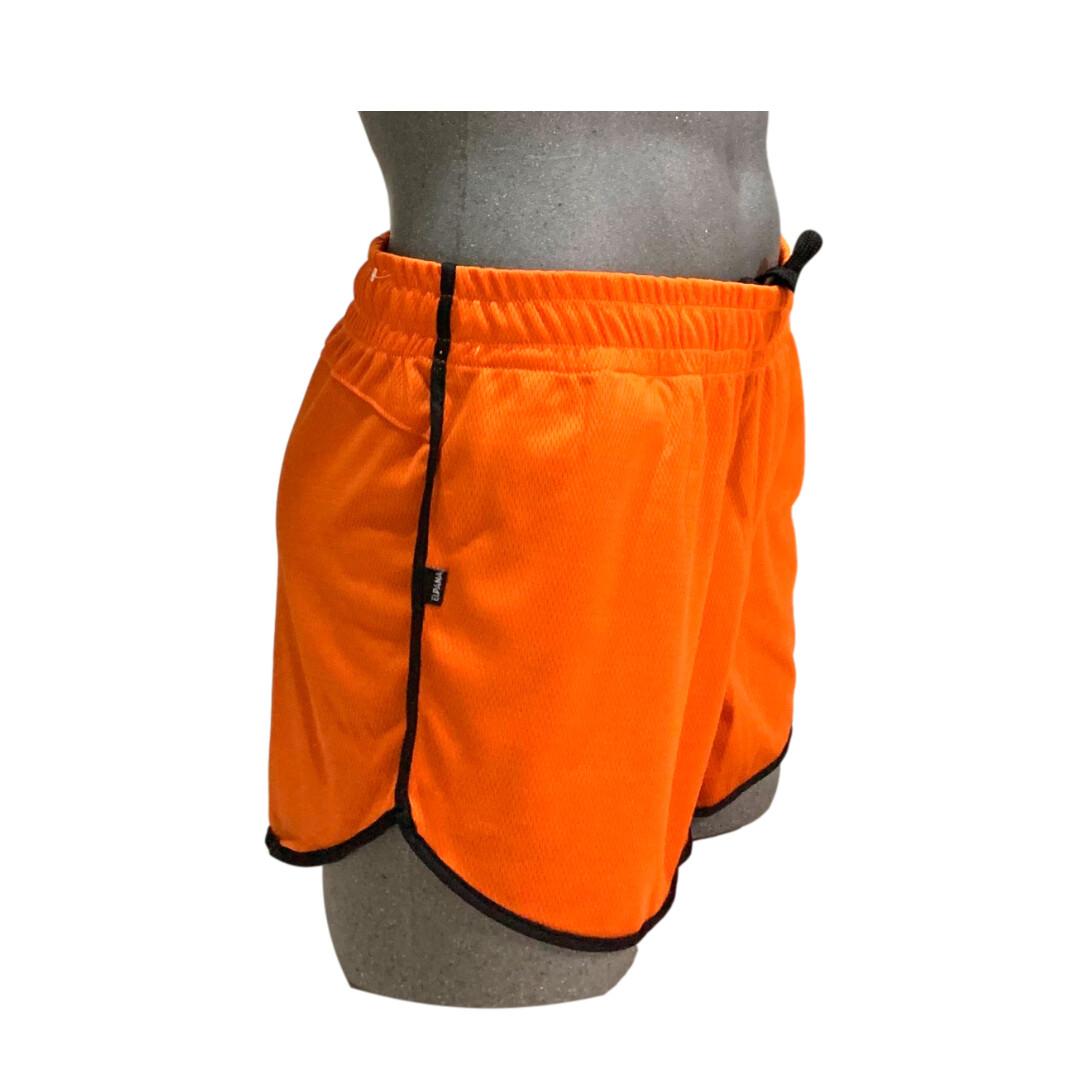 Short de hombre, cómodo y ligero modelo naranja-negro