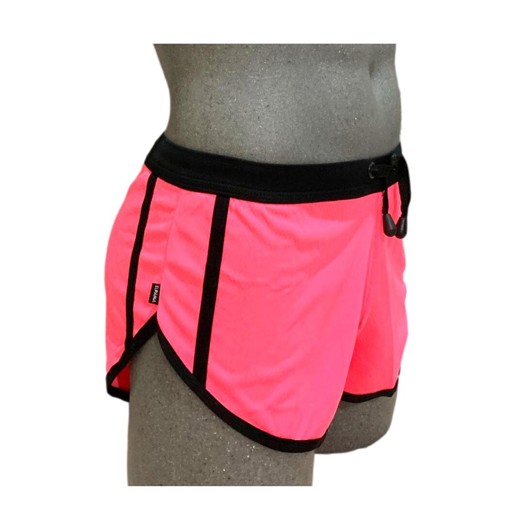 Shorts cortos para caballero, rosa-negro