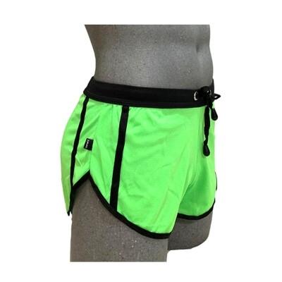 Shorts cortos ajustados, modelo verde limón