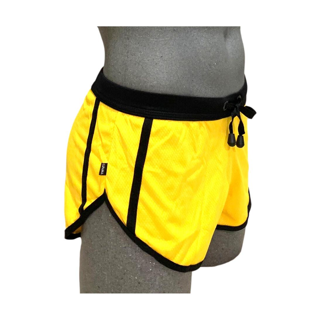 Short caballero con gran comodidad, amarillo-negro