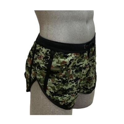 Shorts cortos clásicos y cómodos, verde militar