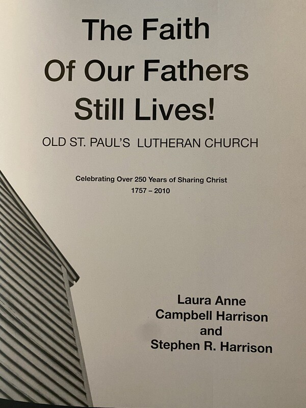 Old Saint Paul's Lutheran Church Book