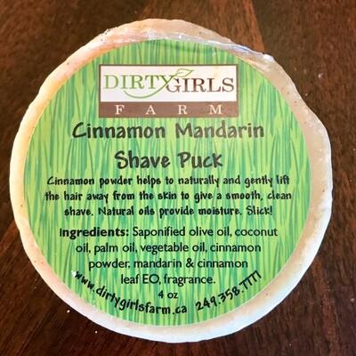 Cinnamon Mandarin Shave Puck