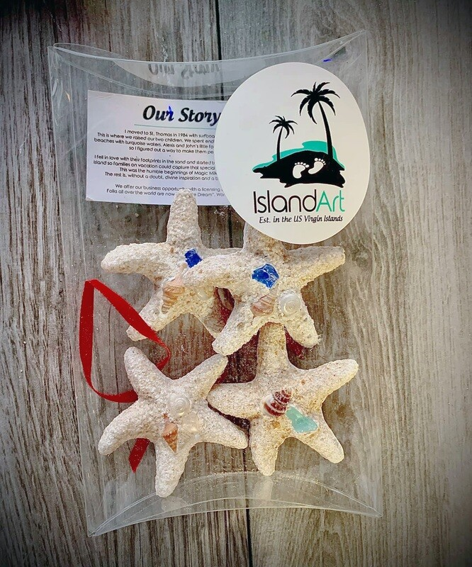 4 Christmas Ornaments (Stars)