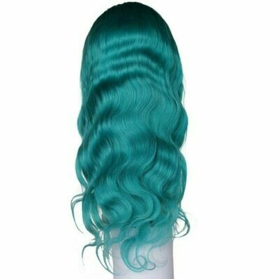 Teal Temptress Body Wave Lacefront Wig