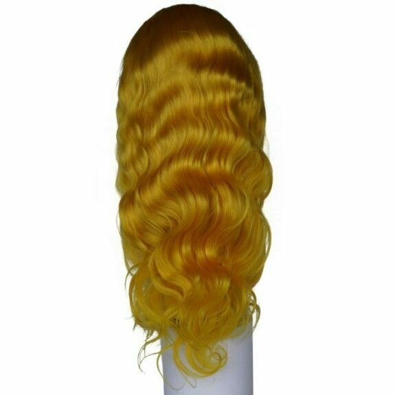 Yellow Flame Lacefront Wig