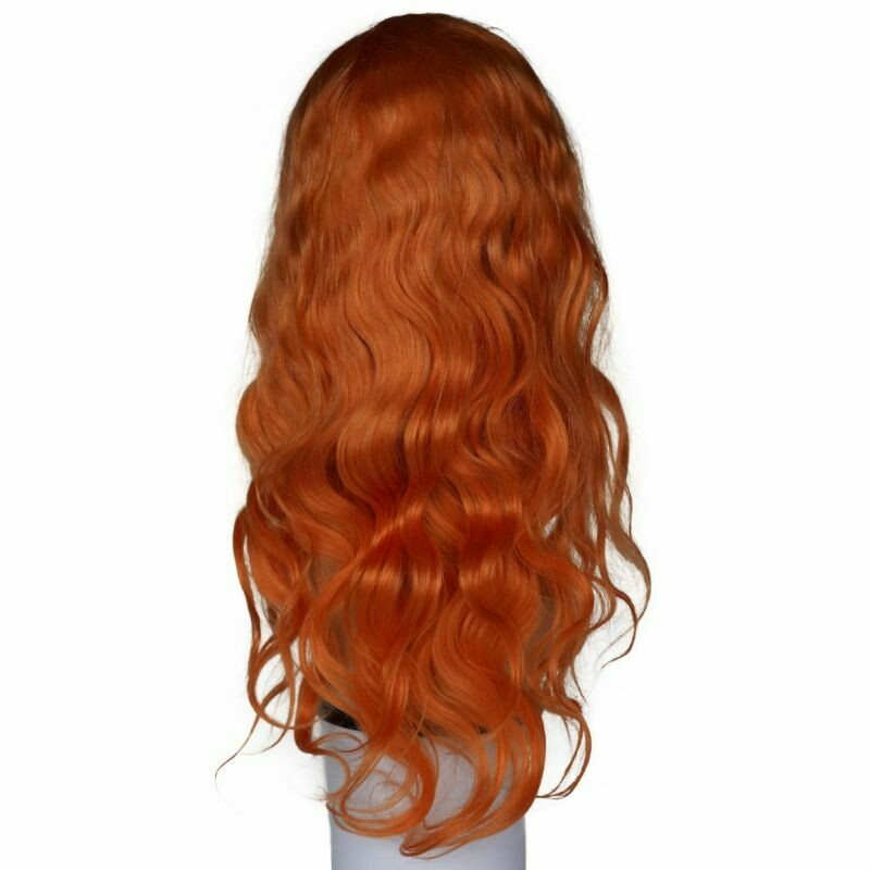 Neon Orange Body Wave Lace Font Wig