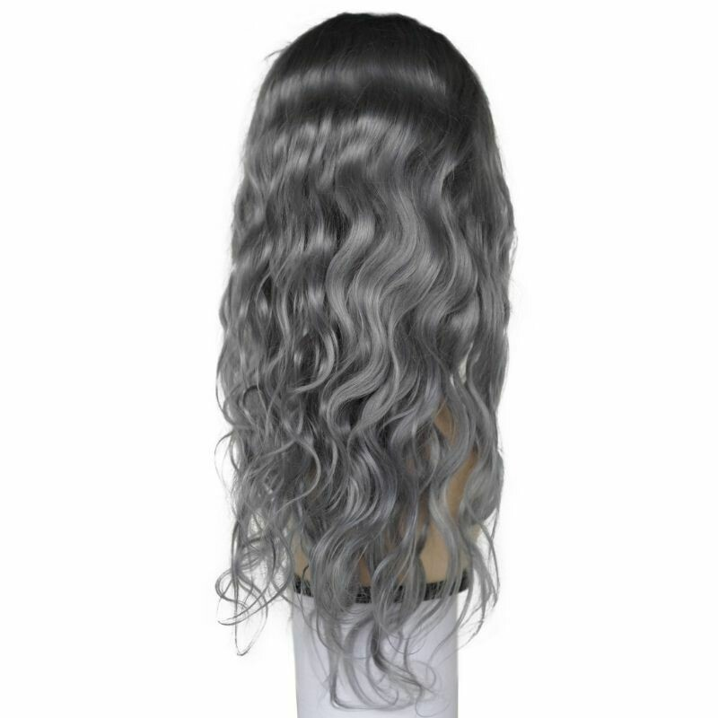 Gray Fantasy Body Wave Lace Front Wig