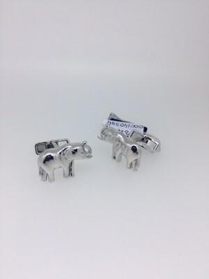 Gemelos de plata Dunhill, elefantes