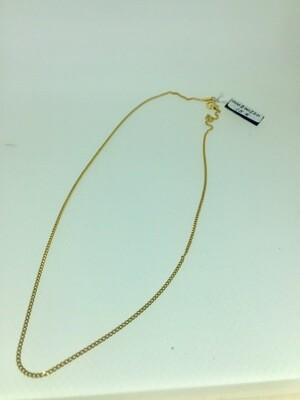 Cadena de plata bañada en oro modelo barbada, de 40,45,50cm