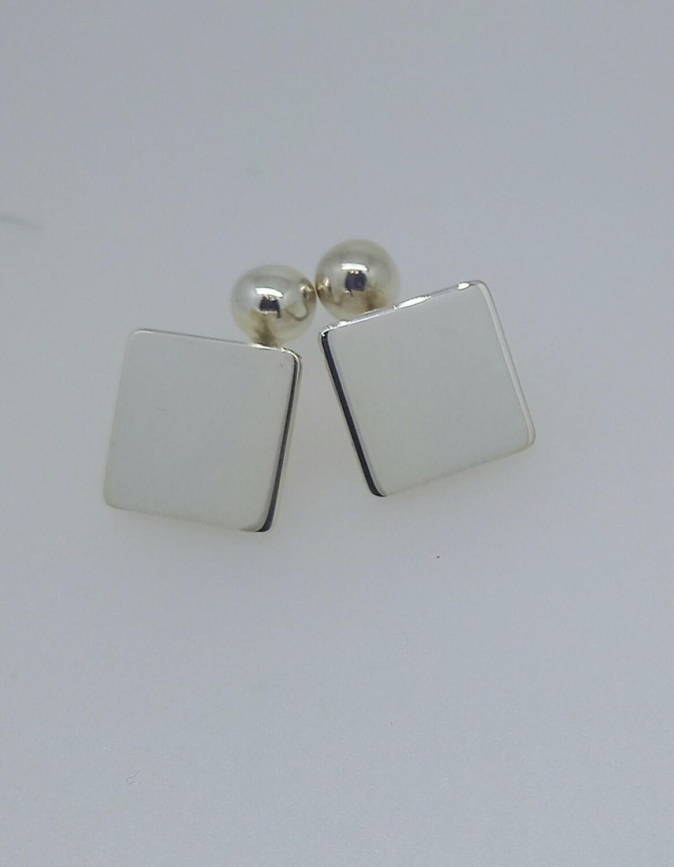 Gemelos de plata cuadrados