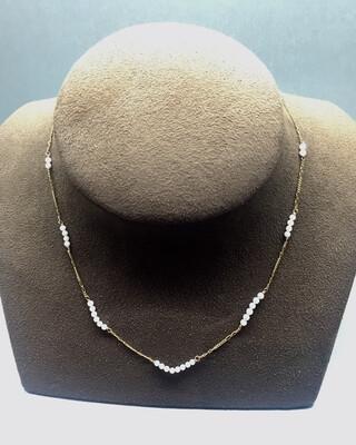 Collar de oro y perla cultivada Japonesa