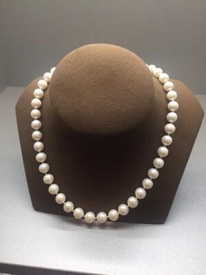 Collar de perlas cultivadas de 10mm