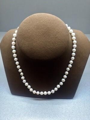 Collar de perlas cultivadas de 7mm