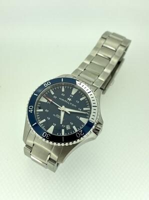 Reloj Hamilton de acero, automático 80 h de reserva de marcha, cristal zafiro, Corona rosca, 40mm, 100 metros.