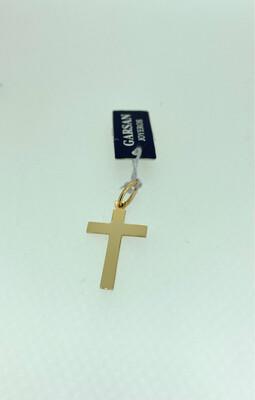 Cruz de oro amarillo de 18 ktes de 2x1,3 cm.