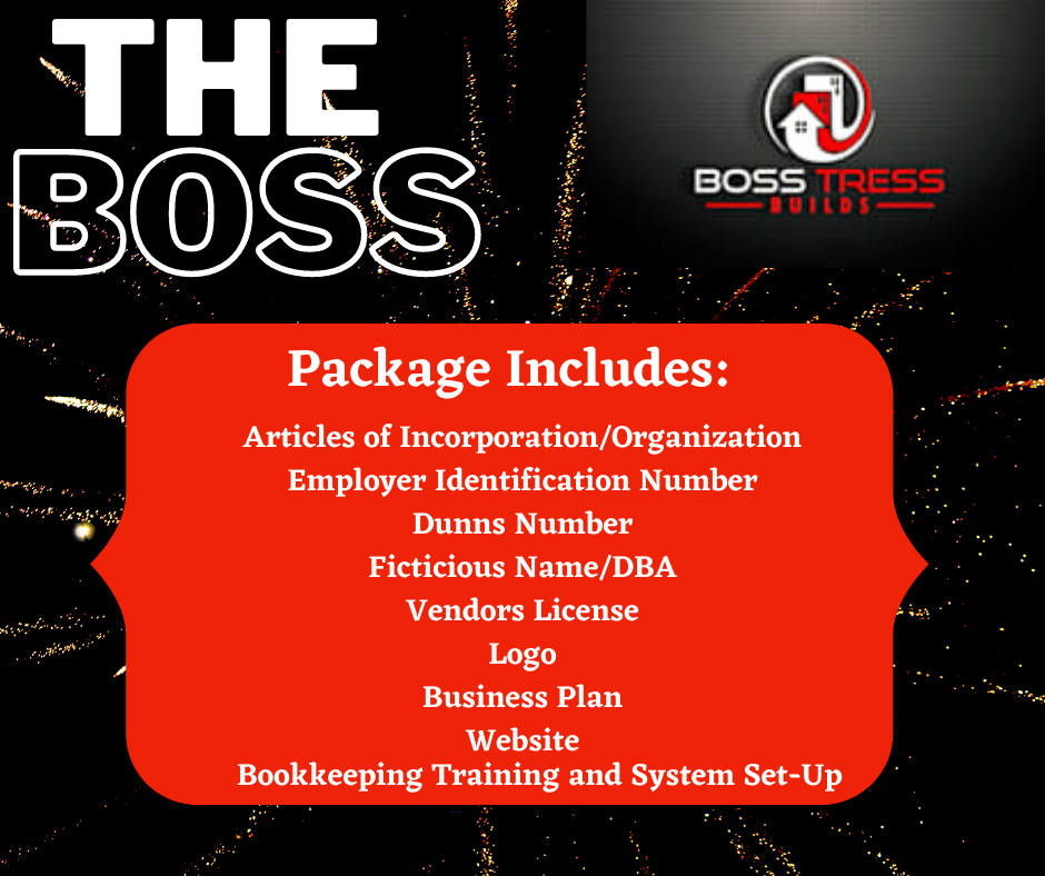 """""""The Boss"""" Business Start-Up Package"""