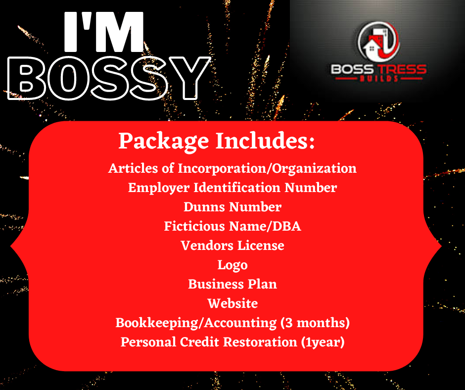 """""""I'm Bossy"""" Business Start-Up Package"""