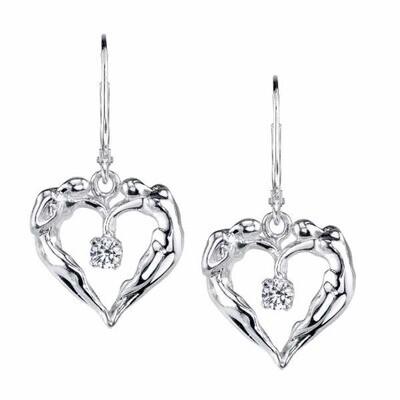 Dangle Earrings, .925 SS