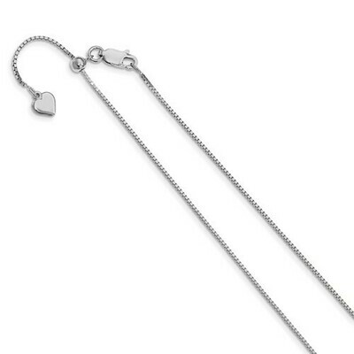 Leslie's Sterling Silver .95mm Adjustable Box Chain