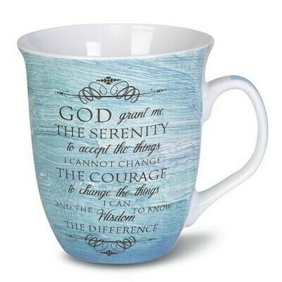 Ceramic Stone Serenity Prayer Mug