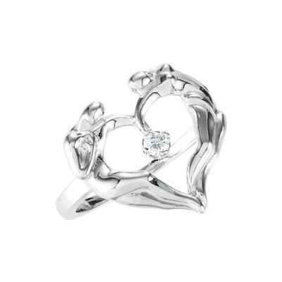 Heart Ring, .925 SS