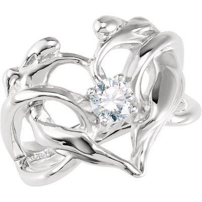 Designer Heart Ring, .925 SS