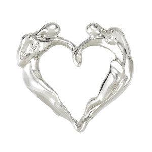 Classic Heart Necklace, .925 SS Medium