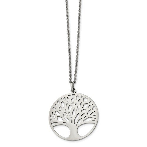 Stainless Steel Polished Tree Of Life