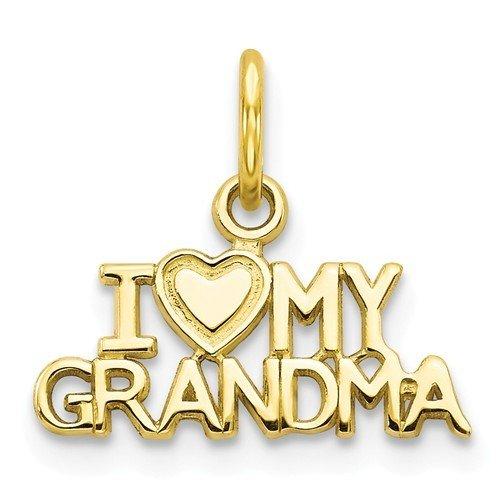 10k I Love My Grandma Charm