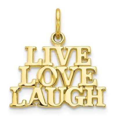 10k Live Love Laugh Charm