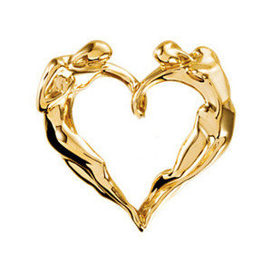 14k Gold Classic Heart Necklace