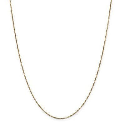 14k Yellow Gold 18in .90mm Box Chain