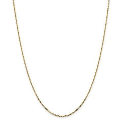 14k Yellow Gold 1.45mm Solid Diamond Cut Cable Chain