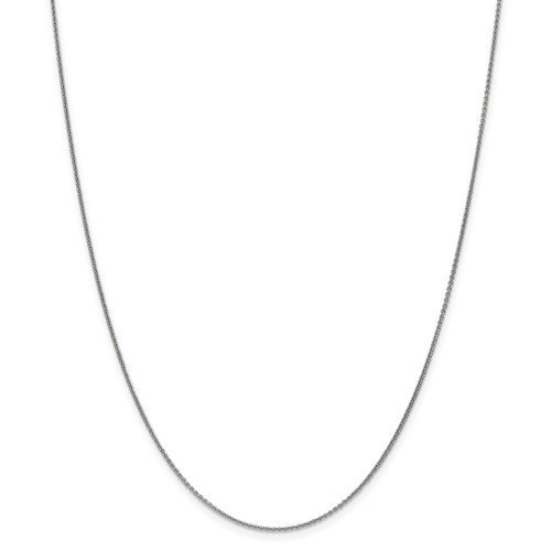 14k White Gold 18in Cable Chain
