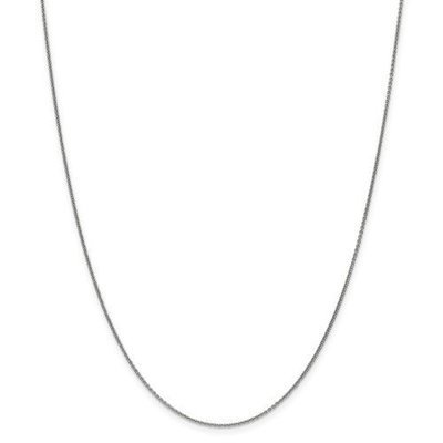 14k White Gold 16in Cable Chain