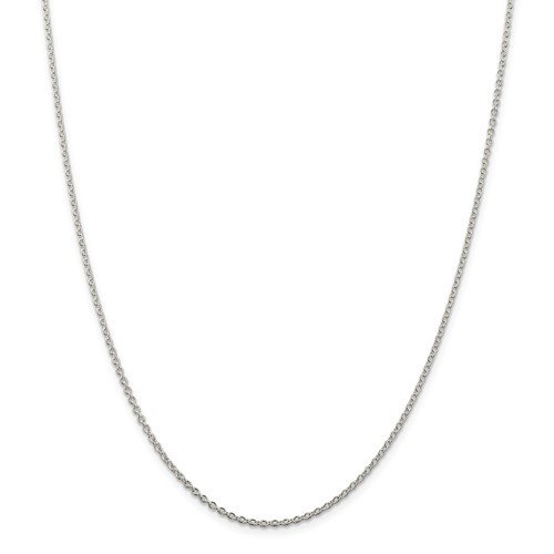Sterling Silver 16in 1.95mm Cable Chain
