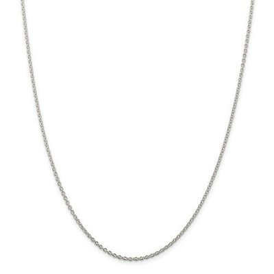Sterling Silver 18in 1.95mm Cable Chain