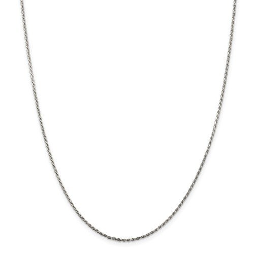 Sterling Silver 20in 1.5mm Diamond-Cut Rope Chain