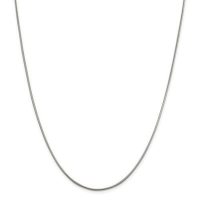 Sterling Silver 18in 1.5mm Round Snake Chain
