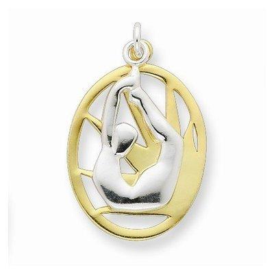 Sterling Silver Yoga Pendant