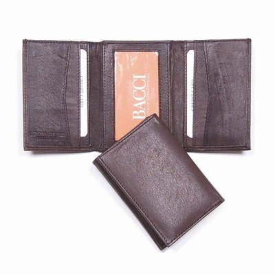 Brown Super Slim Trifold Wallet