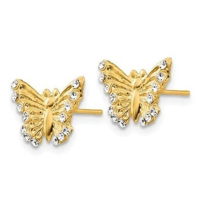 14k Madi K CZ Butterfly Post Earrings