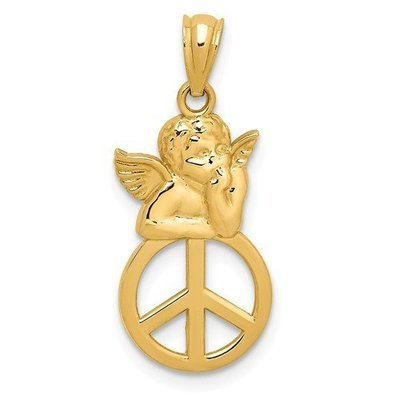 14k Peace Angel Pendant