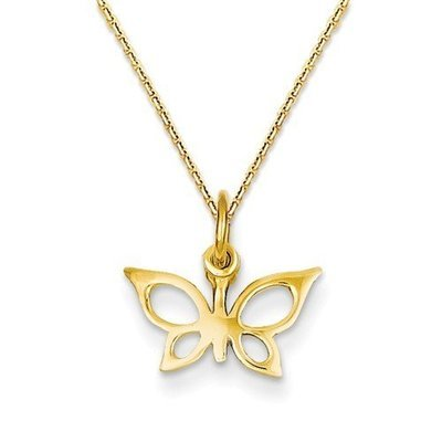 14k Butterfly Necklace