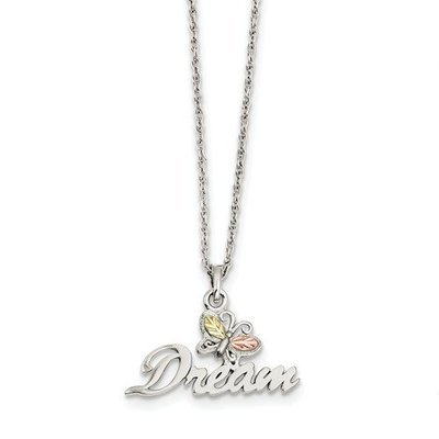 Sterling Silver And 12K Butterfly Dream Necklace