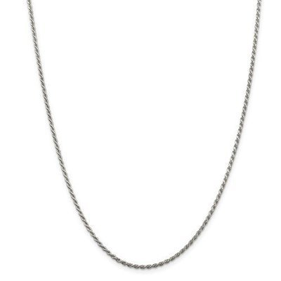 Sterling Silver 1.85mm Diamond-Cut Rope Chain